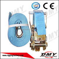 2015 cheap 35MM 3000KG ratchet tie down with Steel Handle Ratchet Strap