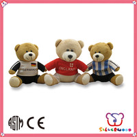 GSV certification cute custom wholesale plush bear toy with heart