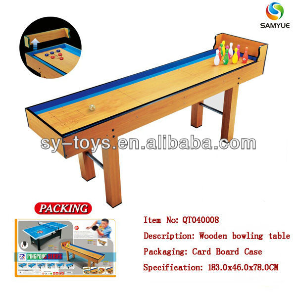Deluxe & classical & amphibious wooden bowling table