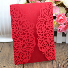 2017 delightful blooms custom laser cut wedding invitation engraved