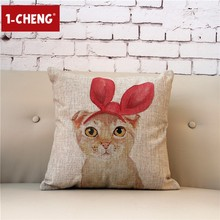 Beauty Cat Design Cushion Chair Seat Pillow Cover Home Sofa Decorative Cushion Cover