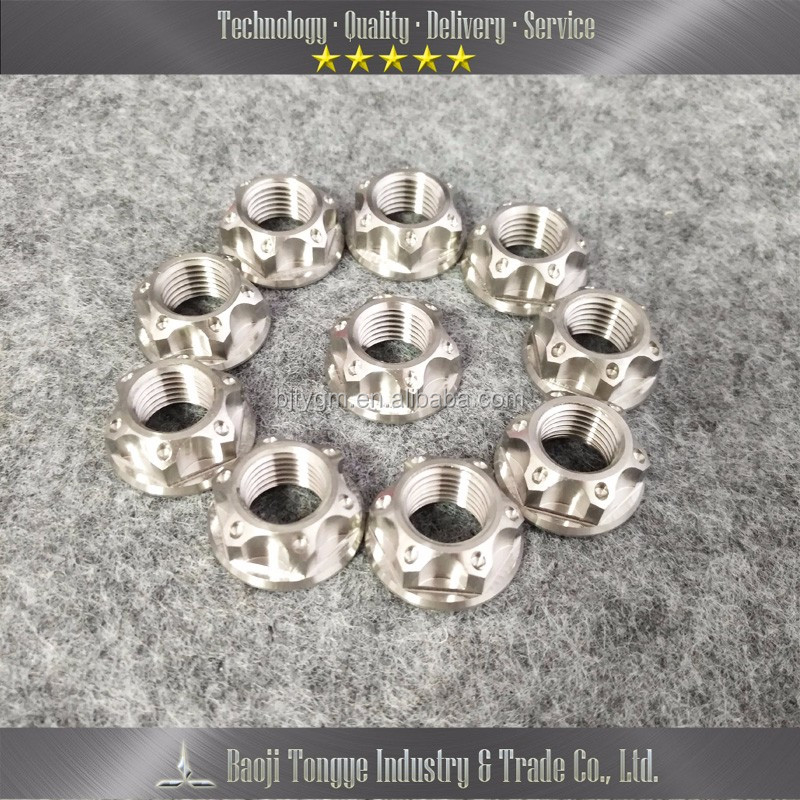 Racing Titanium Nuts Motorcycle Customized Titanium Flange Bolts for Motorcycle