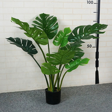 High simulation indoor ornamental faux Monstera foliage plant