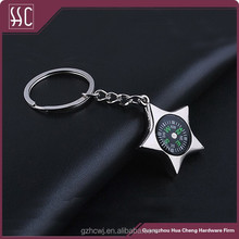 Guangzhou 2015 new fashion star key rings snap key holders