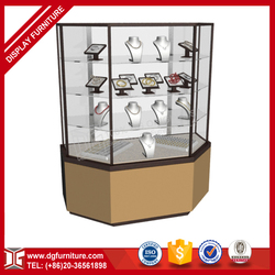 Luxury custom made rotating mirror jewelry store furniture cabinet for jewelry