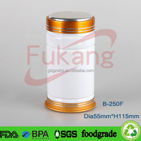 250cc white pet medicine containers, empty pet capsule pill bottles, plastic sport supplement bottle manufacturer China