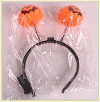 Plastic led pumpkinc halloween head band manufacturer