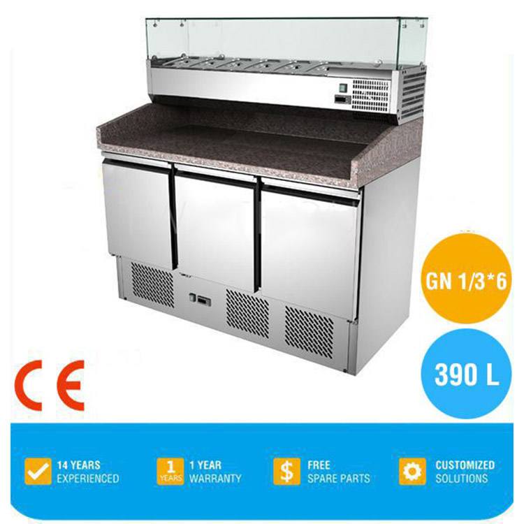 OEM refrigerated cabinet with baking tray marble top work bench various styles baking refrigerator work table