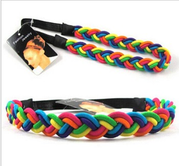 Rainbow-colored Stretch Elastic Headband Hair Headband