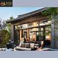 Water and sound proof aluminum double glazing bifold door for exterial