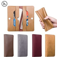 HOCO Fashion elegant denim texture Pouch Slim Flip Leather Wallet Case Cover for iphone 6