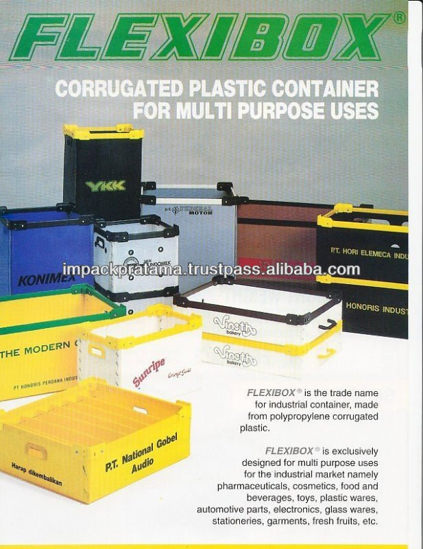 Multipurpose Use Polypropylene PP Plastic Corrugated Box