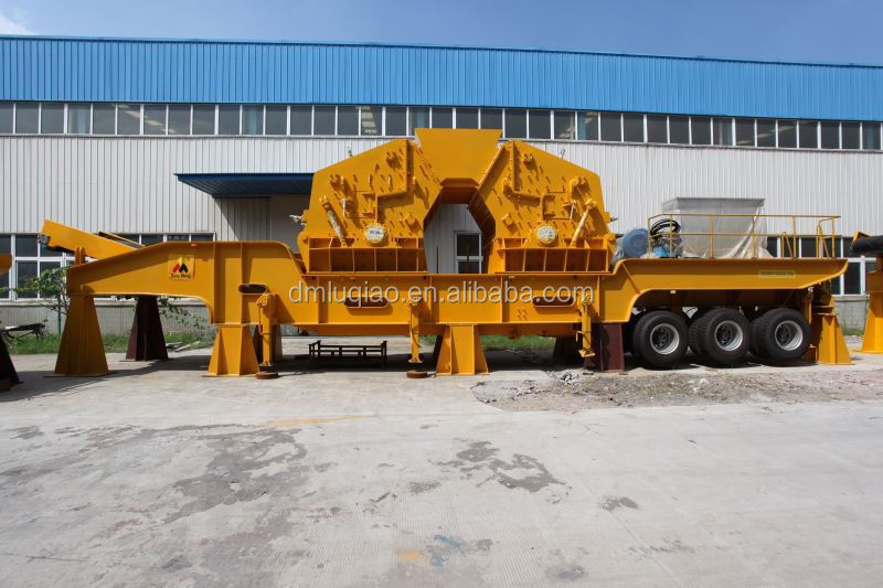 Chinese mobile jaw crusher in trailer, in certified by CE ISO9001:2008 GOST