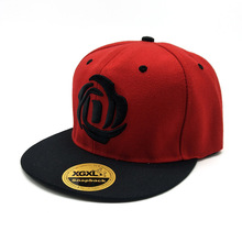 Red hip Hop Cap with rose merry christmas baseball cap
