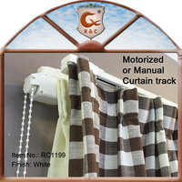 Aluminum machine curtain tracks for heavy curtains with ceiling or wall bracket