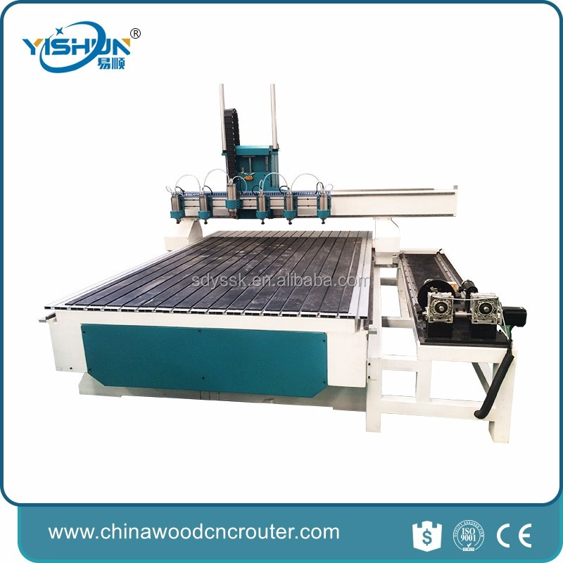 hot sale automatic 3d wood carving cnc router cnc foam cutter with rotary axis 4 aixs
