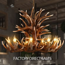 American country European creative unique nine head antlers pendant light for Bar Cafe Restaurant Internet cafes Clothing store
