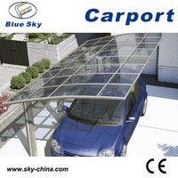 Polycarbonate and aluminum carport folding garage car cover
