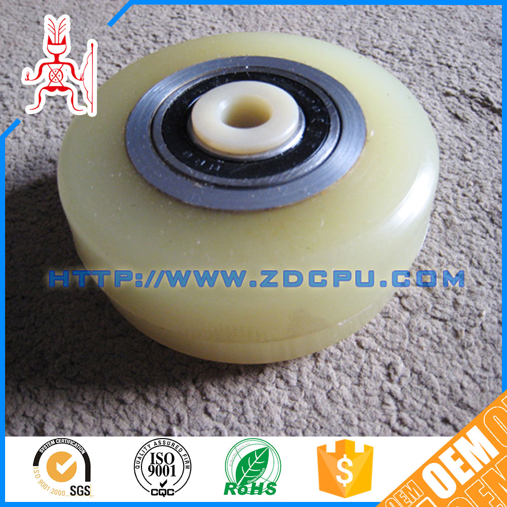 ROHS customized anti-chemical round groove plastic pulley