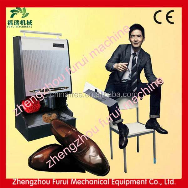Automatic shoe polish machine/advertising shoe polisher