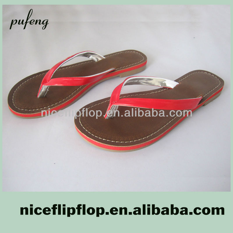 Ladies new design flip flop brand name shoes