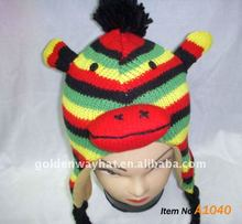 cute animal knitting hat making a knit hat