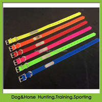 metal nameplate dog pet collars in TPU for greyhounds dogs