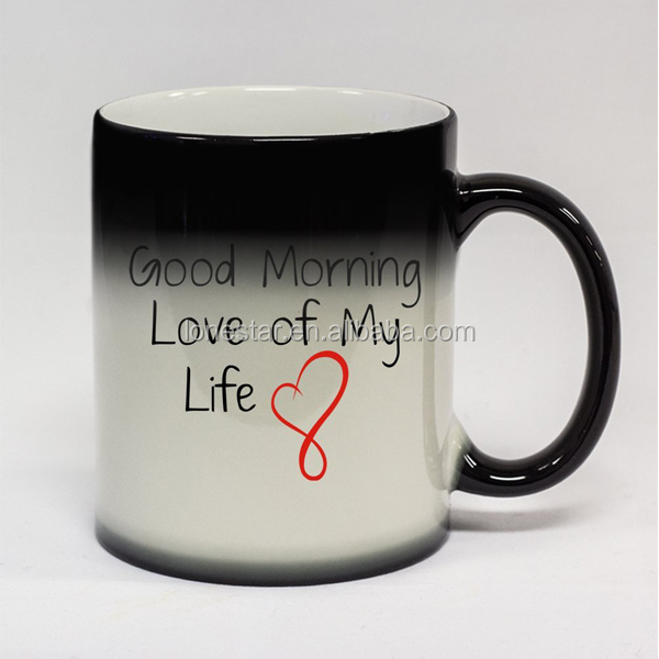 Factory supply durable 350ml white ceramic pro-environment water ceramic mug for dye sublimation