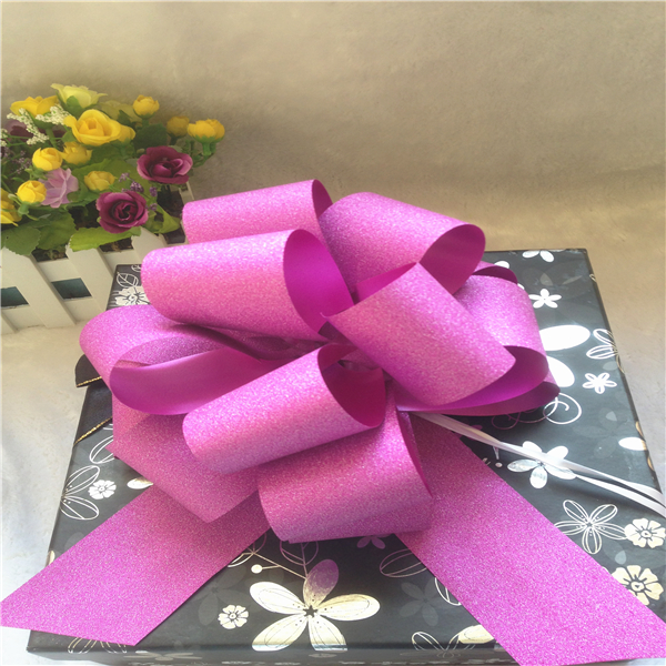 Decorative fancy large christmas ribbon gift pull bow