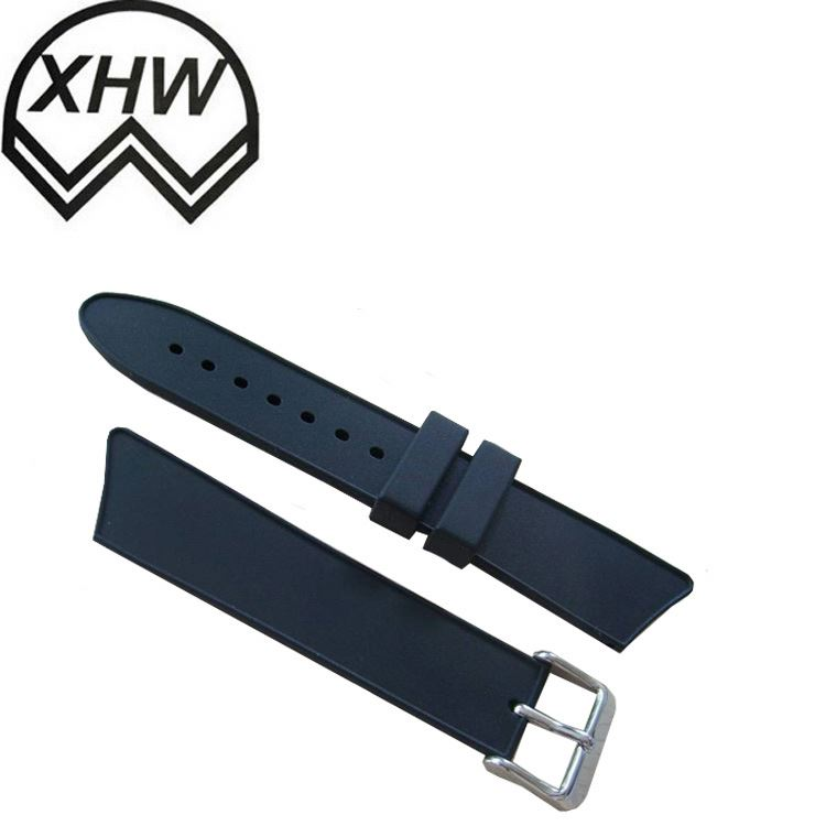 Black China Smooth 89*12*3.5 watch band watch strap