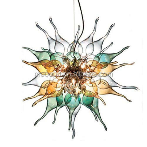Handmade Blown Muticolor Art Stained Glass Chilli Chandelier Pendant light,M9134