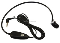 In Ear 3.5mm Connector Radiation Free Tube Headset For Cell Phone
