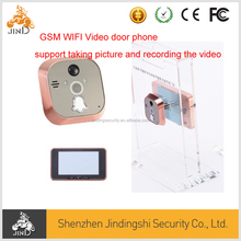 GSM WIFI video door phone with SD card slot, support taking picture and recording video