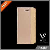 Portable Stand PU wallet flip leather case with Credit Card slot for iPhone 6 6S