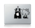 Unique Computers Accessories Hello Kitty Vinyl Laptop Decorative Skin Stickers For Apple Mac Air Pro Retina Laptop Wraps
