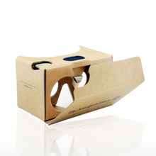 Marketing gift 3d google kartonnen v2.0 apparatuur virtuele custom vr bril