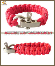 The Premium Paracord Survival Bracelet With Stainless Steel Adjustable Shackle