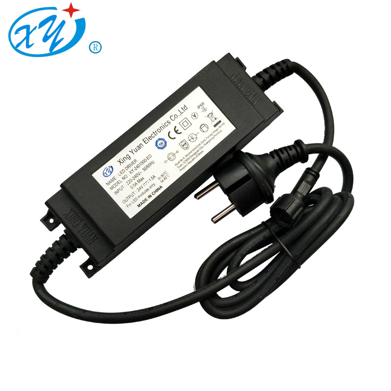 60w IP68 waterproof ac/dc AC/DC Switching power supply universal travel adapter with TUV CE GS certifiation
