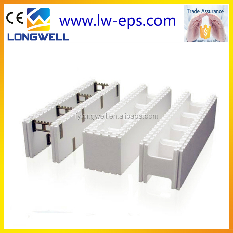 Construction EPS expandable polystyrene icf blocks