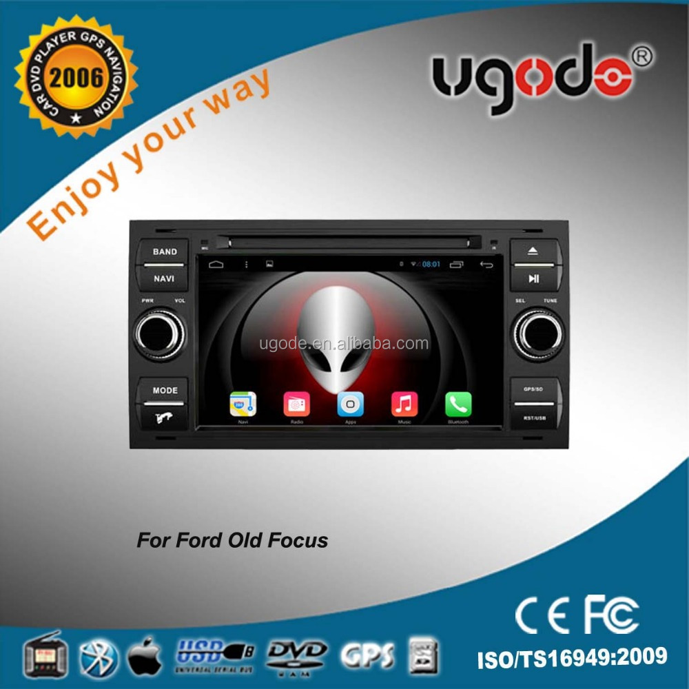 ugode android 7 inch car dvd player with 3g wifi for ford focus car radio