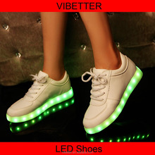 customize women men luminous led light shoes , adult led light up shoes
