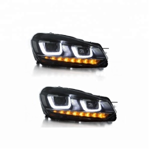 VLAND manufacturer factory wholesales golf mk6 sequential led head lamp 2008 -2013 golf 6 headlight