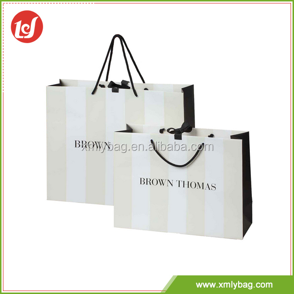 Modern design fashional wholesale carrier famous brand paper bag