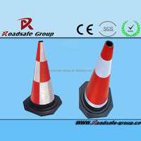 Traffic safety foam rubber cone