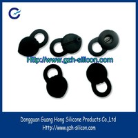 Factory customized silicone gel rubber eco friendly ear hooks made in dongguan