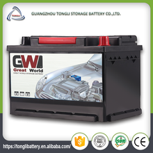 European standard king power battery 12v 88ah mf car battery price