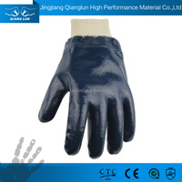 Cheap price farming work blue nitrile coated work gloves