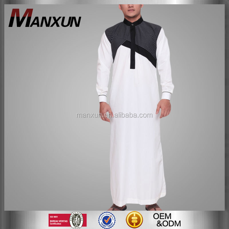 High Quality Cotton Islamic Men Robe Men's Saudi Arabian Design Long Thobe Clothing Muslim Men Thobe /Thawb