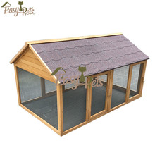 Chicken Coop Wooden Bunny Small Animals Cage With 2 Doors Poultry