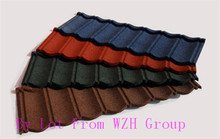 Colorful stone coted steel tile as roof materials in Lithuania Spain Senegal